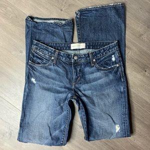 PAPERDENIM&CLOTH | Dark Wash Distressed Jeans